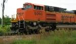 BNSF 9393, lead unit in WB coal hopper train,