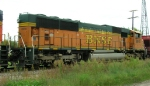 BNSF 8910, 2nd unit in WB coal hopper train,