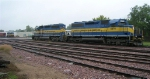ICE 6403 and DME 6070 to pick up ballast cars,