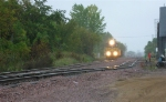 ICE 6403 leading EB with ballast hoppers,