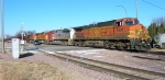 BNSF 4507 and BNSF 4716 are getting ready to uncouple from the other units,