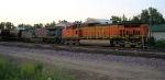 BNSF 5187 will be training unit of grain shuttle when the 2 sections are connected later,