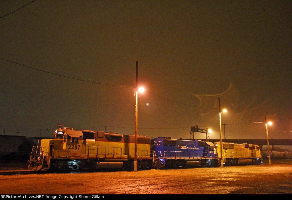 LLPX 2287 and others sit at UP Neff yard In Kansas.