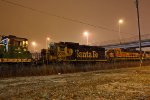 BNSF 2221 sits in the dead line along with other's..