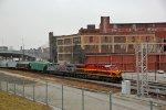 KCS 4691 Leads a EB grain train toward Up Neff yard,