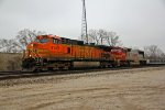 BNSF 4143 leads a freight EB.