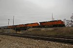 BNSF 6871 Heads up a fast moving Z train WB.