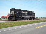 NS SD60E #6951 sit around on Wyoming siding
