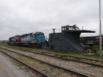 Old snowplow and some Goderich and Exeter motive power.