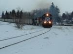 MRL 314 SD45-2 hauling coal drag west
