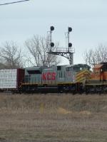 KCS 4018 SD70ACe heading east from Tacoma
