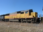Ex UP SD50, dead in tow, lettered for CRIX, seen on 38Q