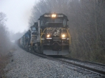 NS 15T approaches from the north on a damp February saturday