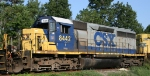 CSX 8442 sits in a siding with other CSX units