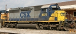 CSX 8875 sits on the house track at Hamlet