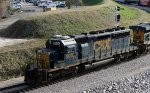 CSX 8066 leads train F741-12 southbound