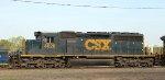 CSX 4020 leads train F741