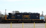 CSX 4376 is switching the yard