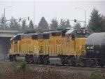 UP 681 and 1200 remotely kickin cars