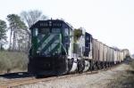 Roller-coaster grain train