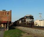 NS 8011 leads coal train 730