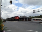 CN 8806 passes the ex-Southern Ry depot