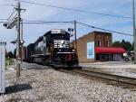 NS 3296 leads NS T27 at Main & Railroad Street