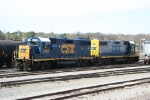 CSX 2705 (repainted) idles with mate 2750