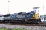CSX 8514 sits beside the yard tower