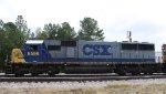 CSX 8596 leads train F742-09