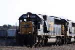 CSX 8597 leads train Q484 up the # 3 track