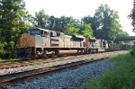 The EMD's take a break as the yard is plugged