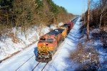BNSF 4352 CSX Train K044 Crude Oil Loads
