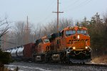 BNSF 6533 CSX Train K042 Crude Oil Loads