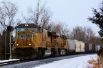 UP 4409 7366 CSX Train K533 Bauxite Loads