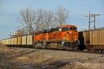 BNSF 6387 Rolls along..