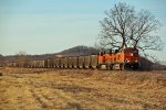 BNSF 6058 Leads a coal load SB down the K line.