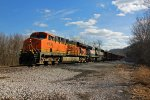 BNSF 6135 Heads up the K line into Ashburn Mo.