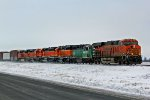 BNSF 6667 and other's lead this H-BURMAD.