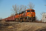 BNSF 7907 Heads down the K line with a ore train.
