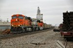 BNSF 5871 Heads up a empty coal into the siding at Old Monroe.