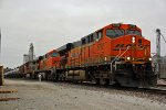 BNSF 5782 Leads a Loaded oil can SB.