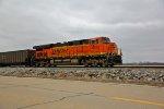 BNSF 6373 Works Dpu on a empty coal train.