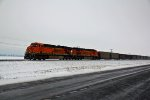 BNSF 5950 Leads a empty coal train up the K line!!