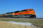 BNSF 9038 Brand new Ace leads a coal load SB.