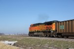 BNSF 5685 Working Dpu on a SB coal train.