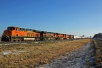 BNSF 7601 leads a nice set of power NB.