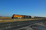BNSF 6325 Leads a empty crude oil NB.