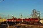 KCS 4800 Leads a empty coil train.