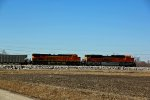 BNSF 9079 Hurries north with a empty coal drag.